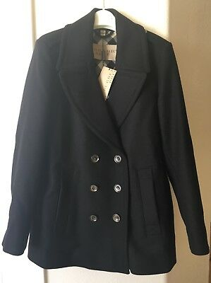Sales promotion wide selection detailed images NWT BURBERRY BLACK Tumblebridge Women's Wool Blend Peacoat, Size 10