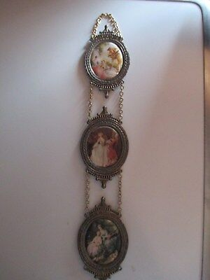 Vtg 3 Florentia Hand Made in Italy Mini Wall Frames 14 X 2