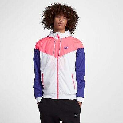 save off e8515 c6c52 Mens Nike Sportswear Windrunner Hooded Jacket 727324-104 WhitePink New Sz M