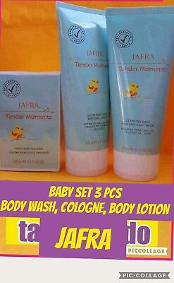 JAFRA TENDER MOMENTS  BABY  COLOGNE, , BODY WASH & CREAM  3 PC SET Fast SHIP