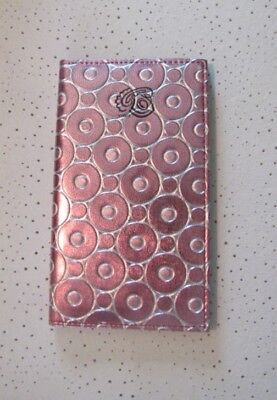 SHINY PINK and SILVER Circles Address and Telephone Book with Perpetual Calender