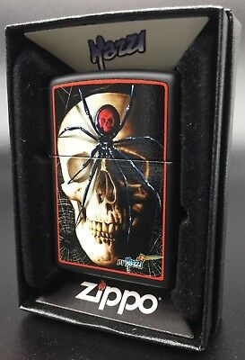 Zippo Skull and Spinder Print By Claudio Mazzi - Special Art Print *RARE