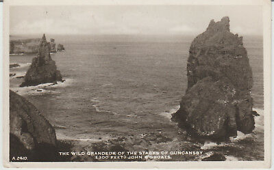 Caithness--JOHN O' GROATS-THE STACKS OF-DUNCANSBY  -POSTCARD # P/U 1962 # 136