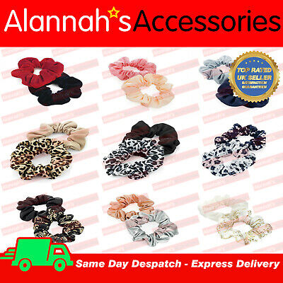 Pack Of 2 Hair Scrunchies Elastic Hairband Animal Foil  17 Designs