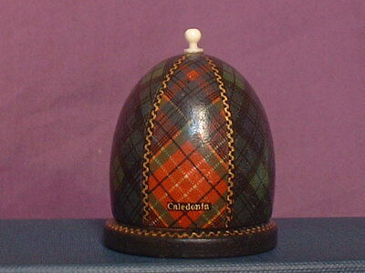 Mauchline Thimble Holder Sewing Caledonia & Forty-Second Tartan Ware