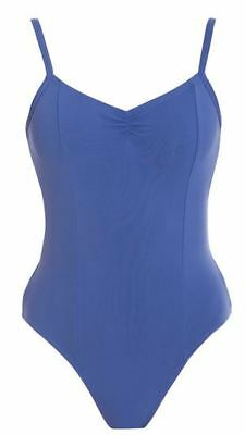 Womans Girls Lined Camisole Leotard Low Gathered Back Ballet Tap Dance RRP$55.99