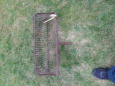 Vintage antique pig iron CLAM RAKE