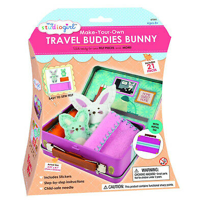 My Studio Girl Make Your Own Travel Buddies Bunny Sew Set NEW Crafts Art DIY
