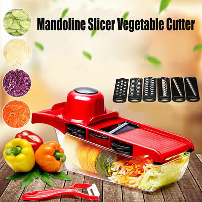 Mandoline Slicer Vegetable Grater Cutter 6 In 1 Multi-function