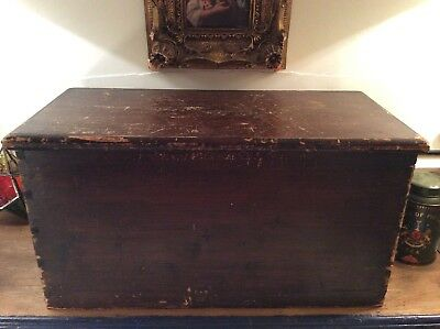 Vintage Antique Wooden Chest Trunk Box Church Communion Wine Chest, Coffee Table
