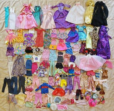 Barbie Clothing Lot of 100 Assorted Pieces #7