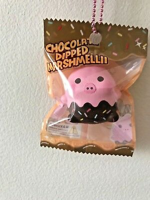 NEW Mini Chocolate Dipped Marshmellii Pig Squishy by Creamiicandy