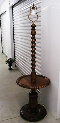 Antique French Barley Twist Floor Lamp