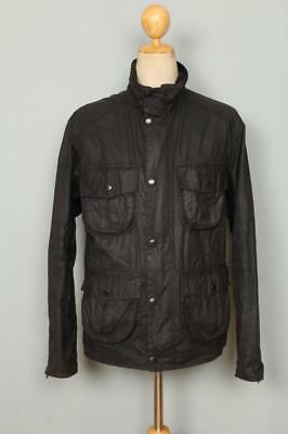 BARBOUR New Utility WAXED Jacket Black Size Small