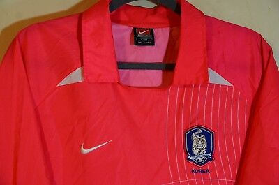 12a40529a Nike Team South Korea 2002 Home Windbreaker Jersey Pink Men s Size Large