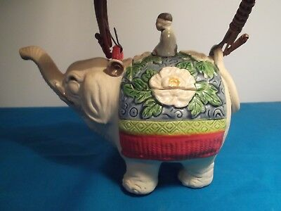 Elephant And Rider OLD Teapot Made in Japan