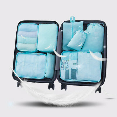 8pcs Travel Storage Bags Set Suitcase Luggage Organizer Shoes Laundry Cloth Bag