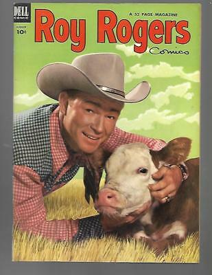 ROY ROGERS Comics #68 Dell Golden Age Western Cowboy Aug 1953 HIGH GRADE