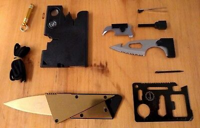 Pocket Sized Tactical Multi Tool Cards for Survival & Utility, Stocking Stuffer!