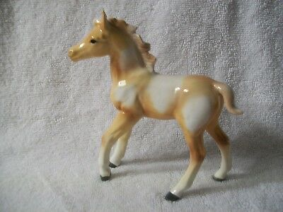 Vintage Porcelain China Ceramic Pottery Horse statue Figurine foal pinto pony