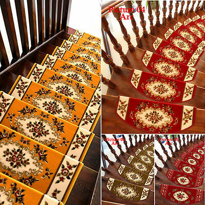 13 Steps Area Rug Floral Stair Treads Carpet Mat Non Slip Rugs