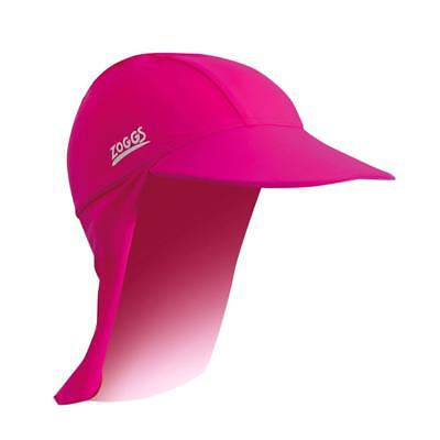 Zoggs Sun Protection Hat In Navy & Pink - Swimming Hat For Kids For Pool Swim