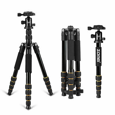 ZOMEI Q666 Aluminum Travel Tripod Portable Monopod for Canon Nikon DSLR Camera