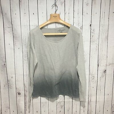 Life is Good Women's Large Gray Ombre LS Top! #1806
