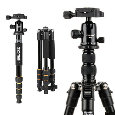 ZOMEI Pro Q666 Aluminum Travel Tripod Portable Monopod for DSLR Camera