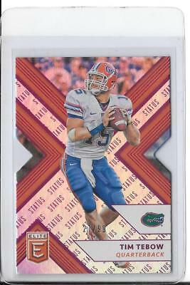 2018 Panini Elite Draft Picks #92 Purple Status Die-Cut Tim Tebow 27/99 Gators