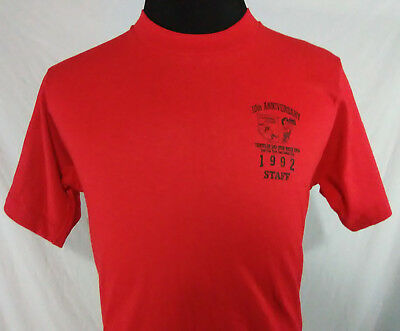 Frischs Big Boy Adult T Shirt Red Black Vintage 1992 1990s Staff Tee