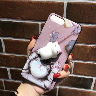 Lovely Cute 3D Cartoon Cat Soft Silicone Protective Case Suitable For iPhone SM
