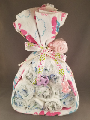 Minnie Stork Diaper Cake, its a girl, baby shower gift