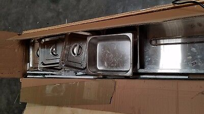 Used! 6-pan food warmer steam table, no glass