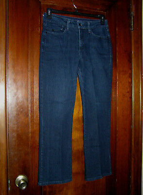 Nydj Not Your Daughters Jeans Boot Cut Dark Wash Cotton Stretch Jeans Sz 8 0218