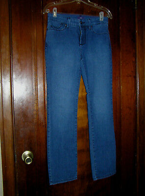 Nydj Not Your Daughters Jeans Mini Boot Poly/cotton Stretch Jeans Sz 4P 1017