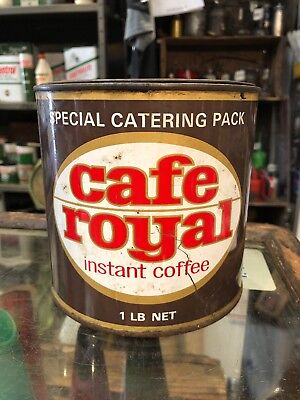 Cafe Royal 1 Lb Vintage Tin