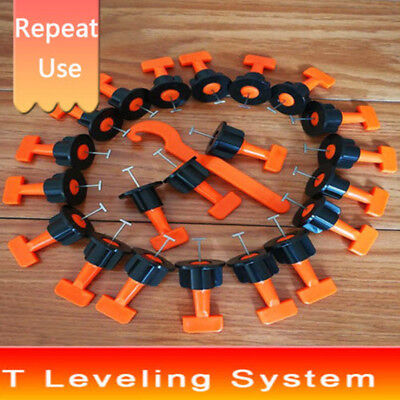 50-150pcs Reusable Tile Leveling Positioning System Leveler T-lock Floor Tool