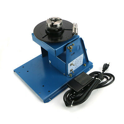 """SHIP Rotary Welding Positioner Turntable Table Mini 2.5"""" 3 Jaw Lathe Chuck US"""