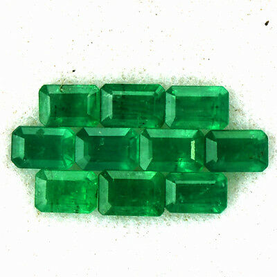Mother's Day Natural Green Emerald 6x4 mm Octagon Cut 6.35 Cts Lot 10 pcs Zambia