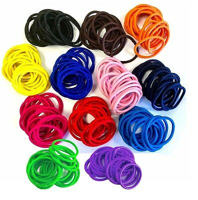 5000x Quality COLOURFUL HAIR BANDS Elastics Bobbles Girls School Ponies Ties LOT
