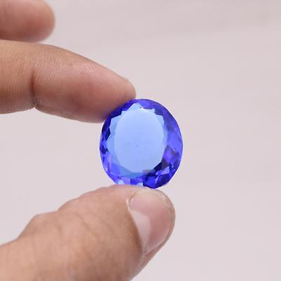 30.0 Ct Natural Certified Oval Cut Translucent Blue Topaz Loose Gemstone M-095