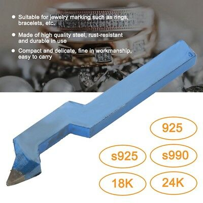 925 Steel Curved Stamp Tool Jewelry Ring Marking Punch For Bracelet Watch