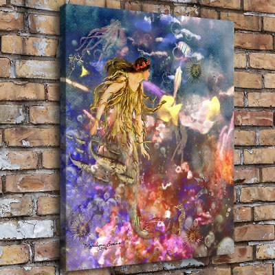 """Mermaid Fantasy 16""""x20"""" Home Decor HD Canvas prints Picture Wall art Painting"""