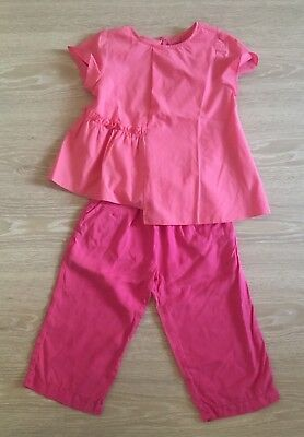 Zara Girl's Contrasting Pink Outfit! Blouse Size 7 and Pants Size 6 (Item#73)