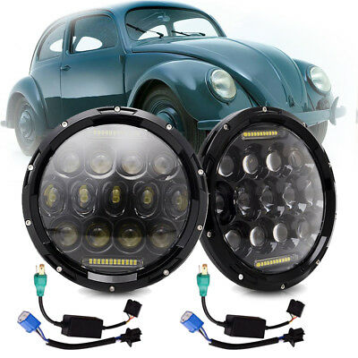 For VW Beetle Classic DOT 7 Inch LED Headlight Upgrade High Low Beam Round