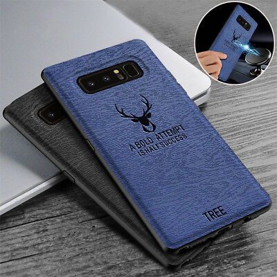 For Samsung Galaxy Note 9 8 S9+ Shockproof Slim TPU Leather Case Magnetic Cover