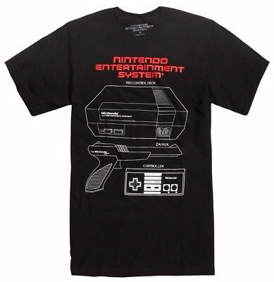 Nintendo Entertainment System NES Classic Bundle Black T-Shirt New with Tags