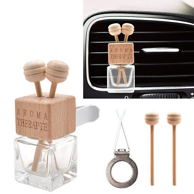 Car Air Cleaner Empty Bottle Perfume Diffuser Fragrance Hanging Printed Gift