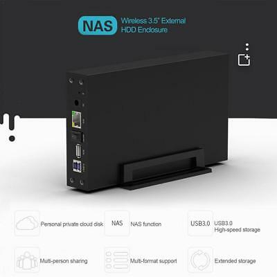 Wireless NAS USB 3.0 WIFI SATA HDD Case Hard Drive Router Repeater Enclosure